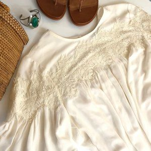 Lucky Brand Blouse Lace in Cream